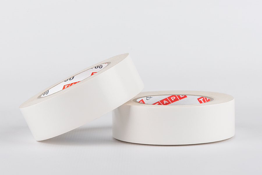 Double sided special tape, white, polyester fabric